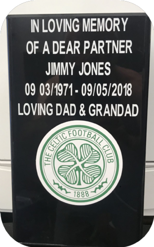 Celtic F. C. Square grave flower pot.